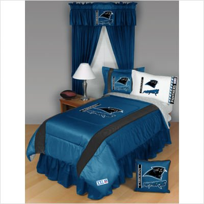 Carolina Panthers Sideline Comforter - Twin Bed
