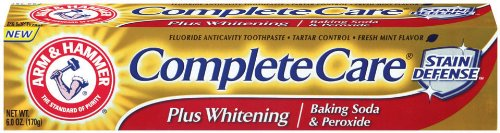 Arm & Hammer Complete Care Plus Whitening Toothpaste with Baking Soda & Peroxide, Packaging May Vary, 6-Ounce Tubes (Pack of 6)