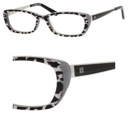 LIZ CLAIBORNE Eyeglasses 600 0EF5 Black Leopard
