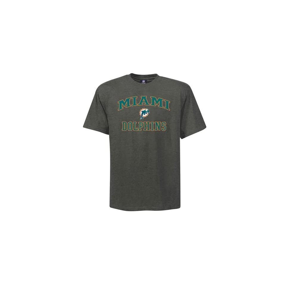 7f95717f4 Miami Dolphins Charcoal Heart and Soul II T Shirt on PopScreen