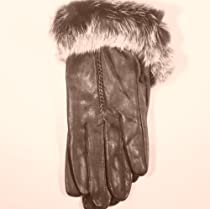 Genuine Black Soft Leather Waterproof and Microfiber Lined Luxurious Looking Gloves for Women and Teens (Small/med)