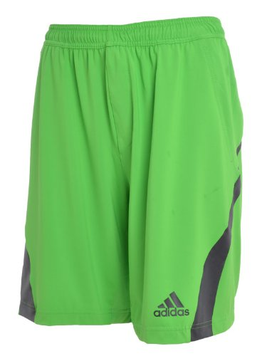 Adidas Barricade Mens Green Bermuda Tennis Shorts -V37458