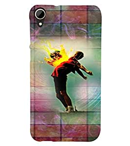 PrintVisa Music Dance Print & Pattern 3D Hard Polycarbonate Designer Back Case Cover for HTC Desire 828