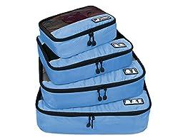 BAGSMART Breathable Travel 4 Set Packing Cubes