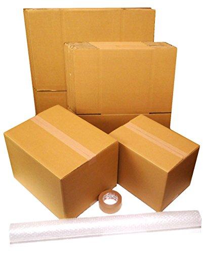 ダンボール 引越しセット 【段ボール箱(120・100サイズ)15枚、プチプチ、クラフトテープ】