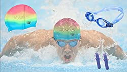 Speedo Swimming Cap with Goggles and Ear Plugs