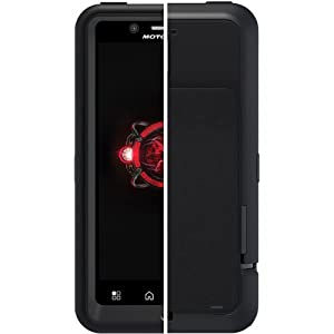 Otterbox Defender Series Hybrid Case and Holster for Motorola Droid Bionic - 1 Pack - Retail Packaging - Black