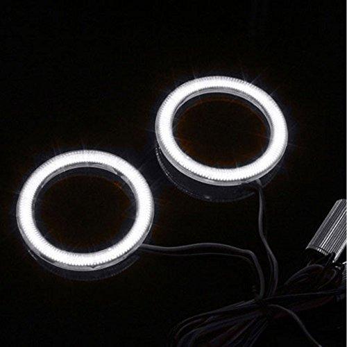 AUMO-mate blanc 2 Pcs 80mm automatique de voitures COB LED Angel Eyes Anneau anneau lumineux lampe
