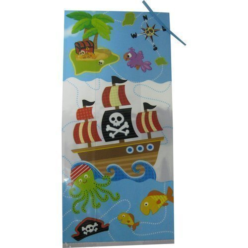 Pirate Party Favor Treat Bags -20 Pack (Bags meaure 5 in. x 11 in.)