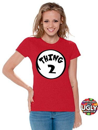icustomworld Women`s thing 1 and thing 2 shirts (S, Thing 2)
