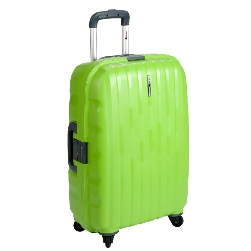 Delsey Luggage Helium Colours Lightweight Hardside 4 Wheel Spinner, Lime, 26 Inch best buy