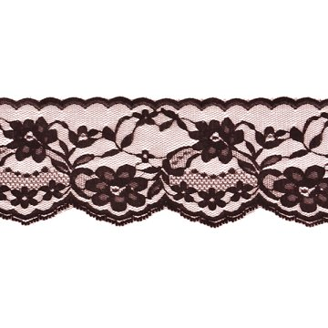 "Check Out This 2 3/4"" Chantilly Lace Trim - Black"