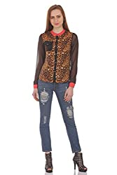 AAZOS Women's Shirt (AAZOS0009, Black and Gold, XL)