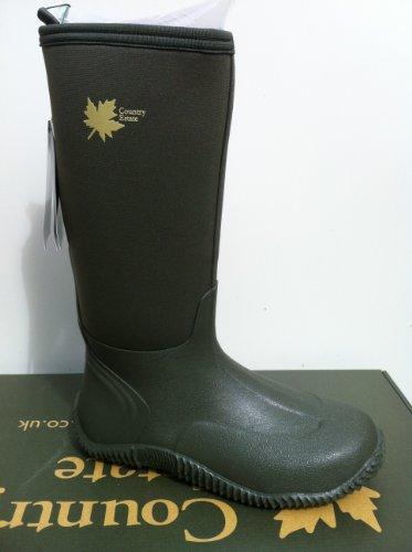 country estate neoprene wellington boots green sizes 4,5,6,7,8 (Devon)