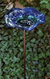 Echo Valley Illuminarie Blue Swirl Birdbath on KD Stake