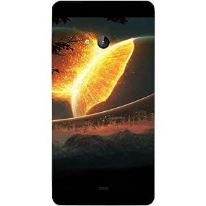 Casotec Burning Sun Design Hard Back Case Cover for Microsoft Lumia 540