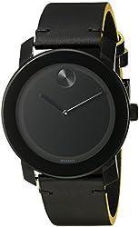 Movado Men's 3600352 Analog-Display Swiss Quartz Black Watch