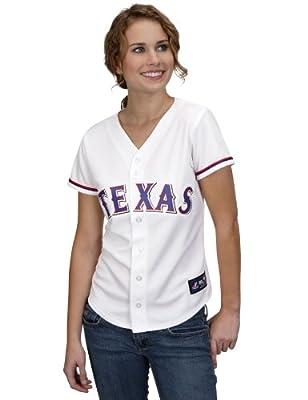 MLB Texas Rangers Ian Kinsler White Home Replica Baseball Women's Jersey, White