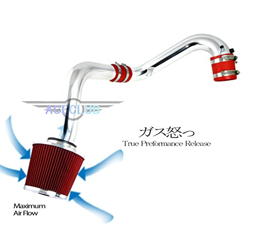 High Flow Sport Cold Air Intake Kit+Red Filter Fit 01-05 Civic VP/DX/LX/EX with VTEC 1.7L (Civic Intake Kit compare prices)