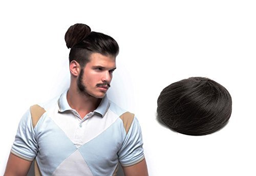 Man Bun - The Original Clip On Man Bun (TM) (Black) (Clip On Hair Bun compare prices)