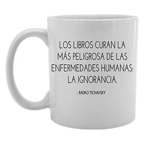 los-libros-curan-la-mas-peligrosa-de-las-enfermedades-humanas-la-coffee-tea-mug-white