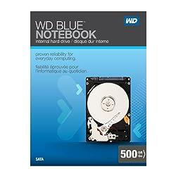 WD Blue Notebook 500GB SATA 3.0 Gb/s 2.5-Inch Internal Notebook Hard Drive Retail Kit