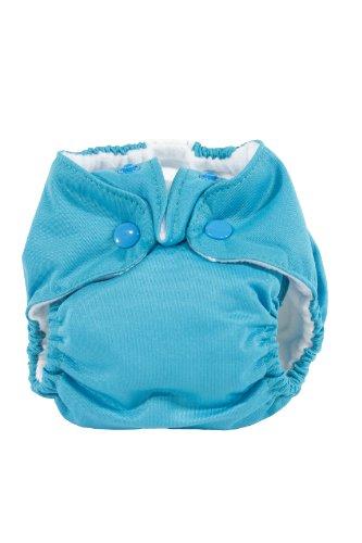Kissa'S Newborn All-In-One Diaper, Lagoon Blue front-57706