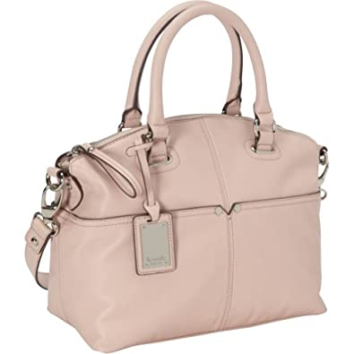 Tignanello Polished Pocket Convertible Satchel Handbag (Cameo Rose)