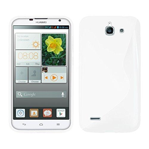Kwmobile® Tpu Case For Huawei Ascend G730 S Line Design White - Stylish Designer Case Made Of Premium Soft Tpu