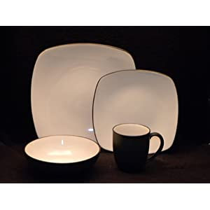 Noritake Dinnerware, Colorwave Graphite Square 4 Piece Place Setting