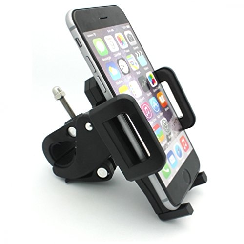 Rotating Bicycle Mount Bike Handlebar Cell Phone Holder Universal for Huawei Ascend P6 P7 - Alcatel OneTouch - LG Exceed 2 - Optimus G Pro, Lite, Vista - Samsung Galaxy Alpha, Round, Core Prime (One Direction Samsung Galaxy Lite compare prices)