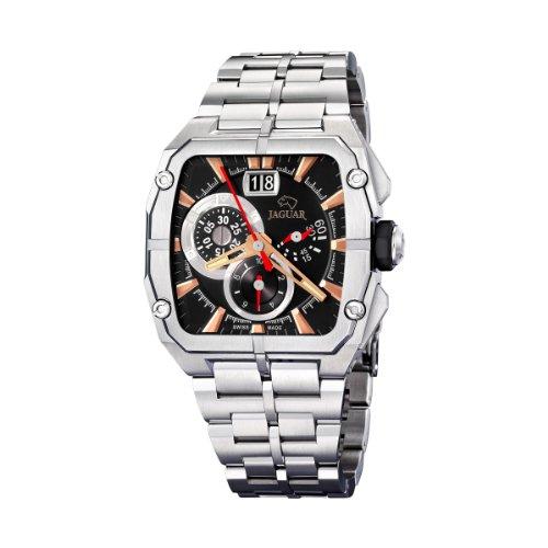 Jaguar 639/3 - Reloj de caballero de cuarzo, correa de acero inoxidable color plata