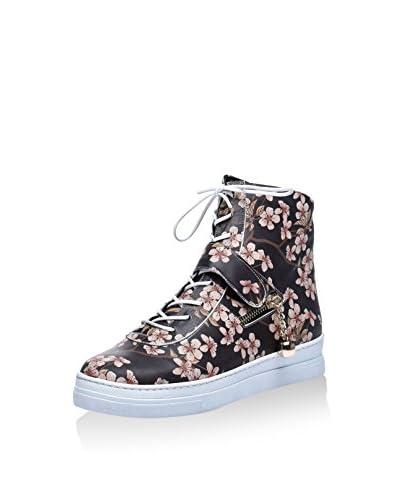 Los Ojo Zapatillas abotinadas Blossom Negro / Rosa