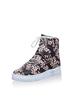 Los Ojo Zapatillas abotinadas Blossom (Negro / Rosa)