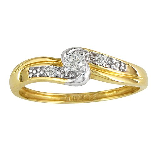promise ring in 10k yellow gold band available in