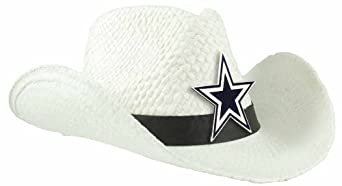 NFL Dallas Cowboys Ladies Cowboy Hat, White by Littlearth