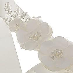 Generic Bridal Wedding Dress Bridesmaid Gown Pearl Flower Sash Belt Accessories