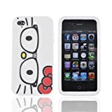 For Apple iPhone 4S 4 Hello Kitty Glasses OEM Hello Kitty Rubbery Feel Silicone Case Cover Reviews