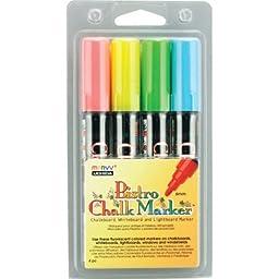 Uchida Bistro Chalk Marker 6mm 4 Piece Fluorescent Set