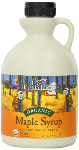 Coombs Family Farms 100% Pure Organic Maple Syrup Grade A Dark Amber, 32-Ounce Jug