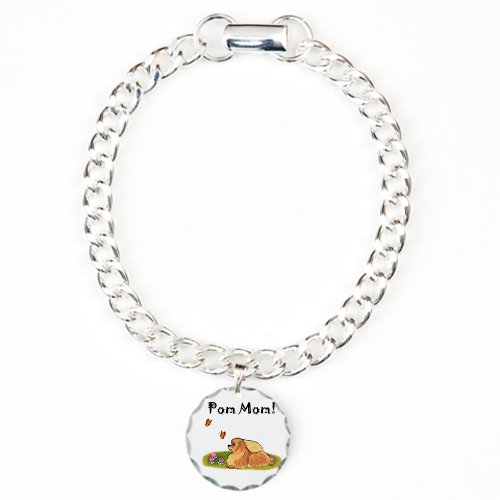 Cafepress Pom Mom Charm Bracelet, One Charm - Standard Multi-Color
