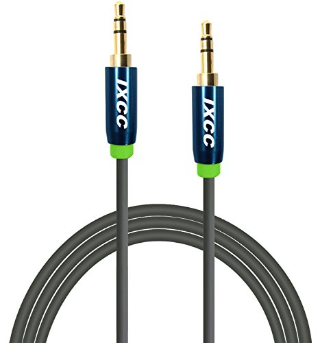 iXCC 6-Feet 3.5mm Male to Male Universal Aux Audio Stereo Cable for Smartphones, Tablets and MP3 Player