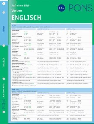 PONS Verben auf einen Blick. Englisch
