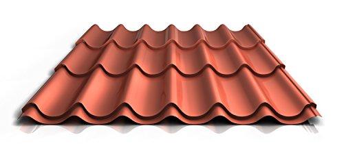 stahl-pfannenblech-ps47-1060rt-040-mm-25-um-polyester-farbeziegelrotlange1150-mm