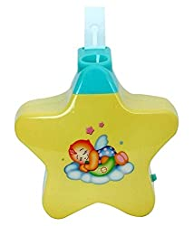 Zest4Toyz Battery operated Musical Infant Angel's Star Projector for Babies