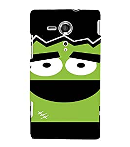 PrintVisa Cute Cartoon Gym Design 3D Hard Polycarbonate Designer Back Case Cover for Sony Xperia SP