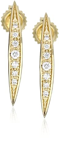 Mizuki 14k Gold and Diamond Curved Ic…