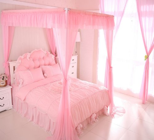 FADFAY Home Textile,New 2014,Korean Beautiful Purple Bedding Set,Cute Girls Pink Bedding Set,Twin/Queen