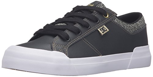 Dc Women S Anvil Tx Se Skate Shoes Black White Gold