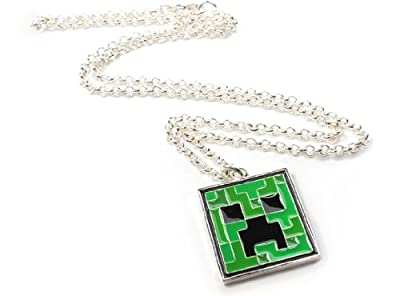 Minecraft Creeper Pendant Necklace from Lady Sandra
